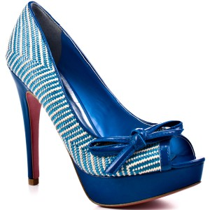 Paris Hilton Beth Ribbon Pumps In Blue Color